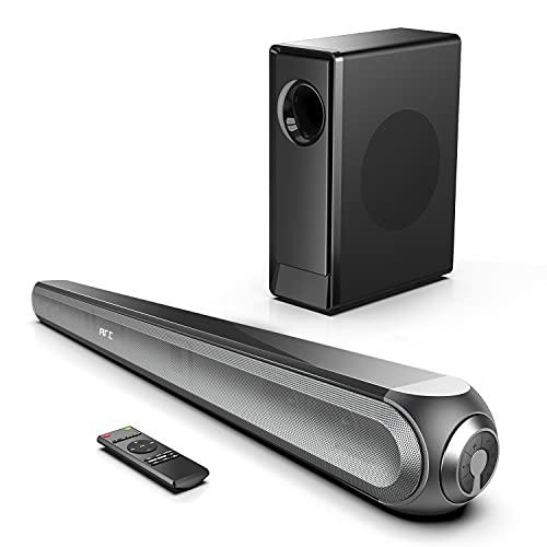 Barra de Sonido Dloby Audio, 240W para TV con Subwoofer Inalámbrico 135 dB 3D, 4K HDR, 0.5% THD Soporta Óptico/HDMI ARC/Aux/USB/Bluetooth 5.0 para Cine en Casa, Njord II