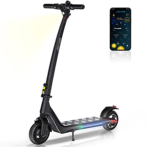JOYOR Electric Scooter forAdults Powerful 350W Motor Max Speed Up to 15.5 MPH, 15.5 Miles Long Range, One-Step Fold ScooterElectricfor Commute and Travel(A3 Black)