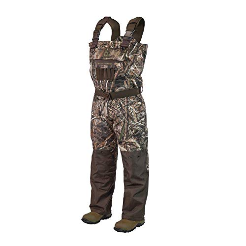 Gator Waders Mens Shield Series Insulated Breathable Hunting Waders, Realtree Max-5, Stout 12