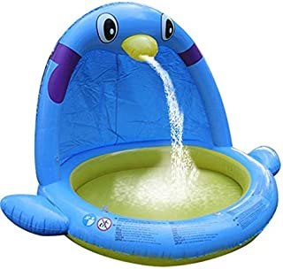 Summer Children's Indoor Swimming Pool Large Water Spray Game Household Thick Cushion Inflatable Penguin Boating Swimming ...