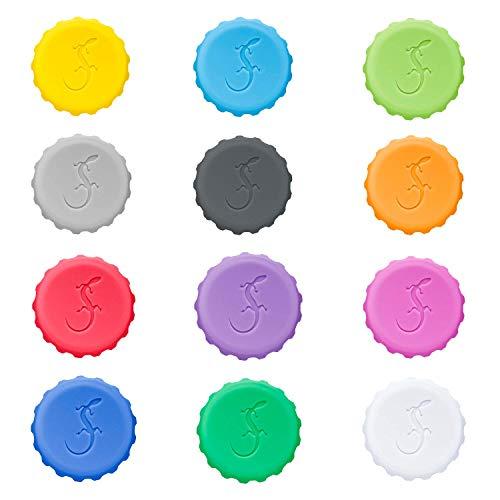 Lurch 210228 Set aus 12 Silikon Kronkorken in verschiedenen Farben