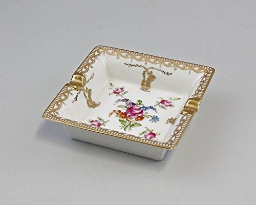 Porzellan Aschenbecher Blumendekor
