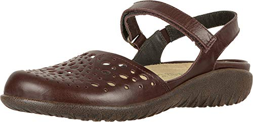 NAOT Footwear Women's Arataki Pecan Brown Lthr Maryjane Flat 7 M US