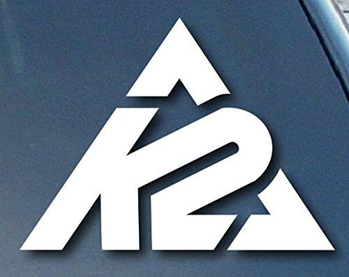"K2 Sports Cars 5"" Decal Sticker for Cars Laptops Tablets Skateboard - WHITE"