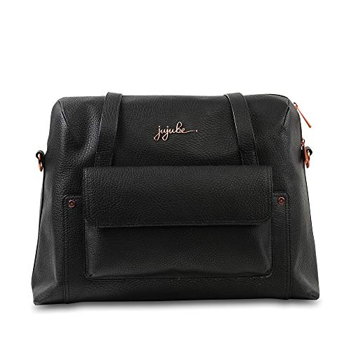 JuJuBe Wherever Weekender Vegan Leather Travel Bag, Ever Collection - Noir Rose Gold