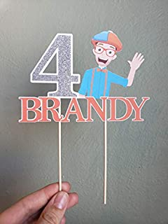 Blippi cake topper with name and age