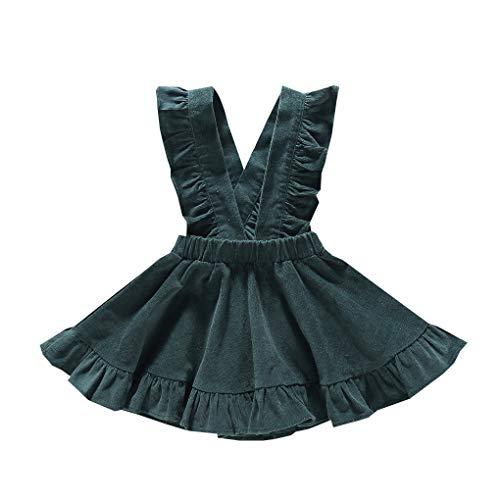 Floridivy Herfst Winter Kids Baby Girl Ruffle jarretel rokje ruches rok, baby ruches jurk, kinderen Peuter Kinderen Solid Ruffle Belt Dress