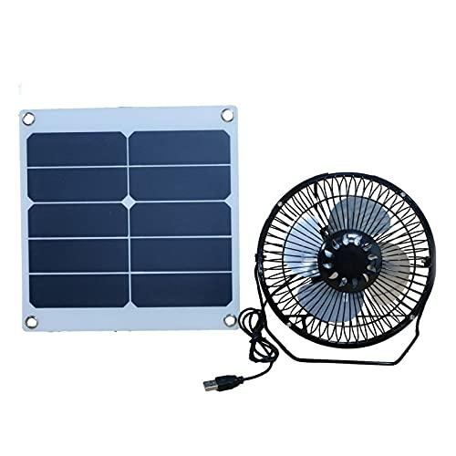 ARVALOLET Solarlüfter Gewächshaus, Ventilator Gewächshaus, Gewächshaus Heizung Solar, Solar Wohnmobil, Kombi Camping Haustier Hühnerstall Ventilator 10w 12v Solarpanel + Lüfter