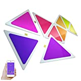MEILINL LED Triángulo Paneles De Luz RGB Luces De Pared Costura De Bricolaje...