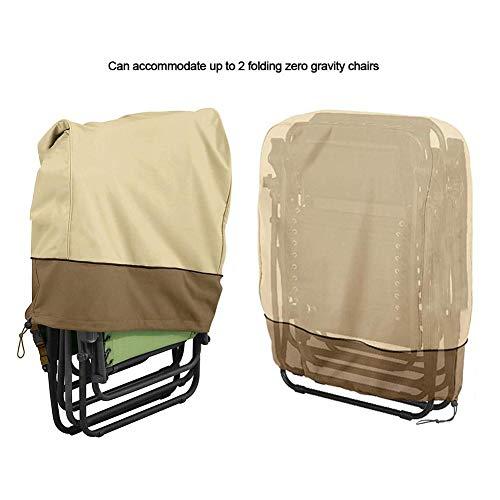 Garten Sonnenliege Liegestuhl Abdeckung, wasserdicht Anti-UV-Sonnenschutz Abdeckung Schutz für Liegestühle 2 Klappstühle Schwerelosigkeit Terrasse im Freien