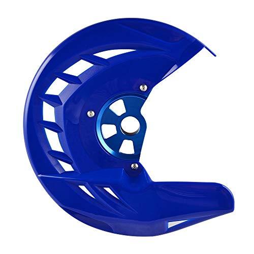 Mszhang Protector de Disco de Freno Delantero GAURD/Ajuste para Husqvarna TE FE 125 250 300 350 449 450 480 501 2014 2015 / Fit for SCC SXF SX XCF (Color : Blue)
