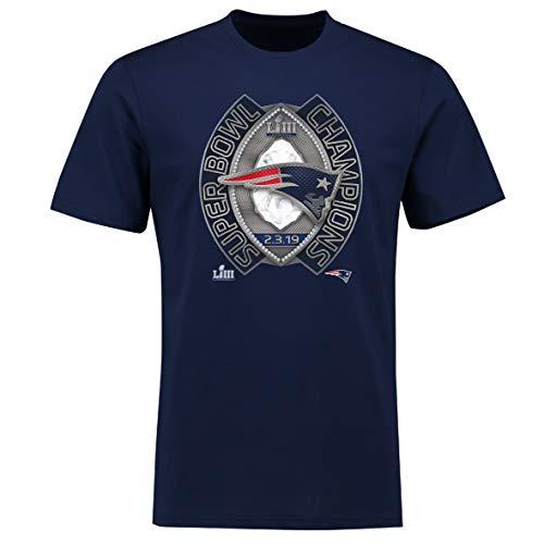 Fanatics NFL T-Shirt New England Patriots T-Shirt Superbowl Champions LIII Ring Football (M)