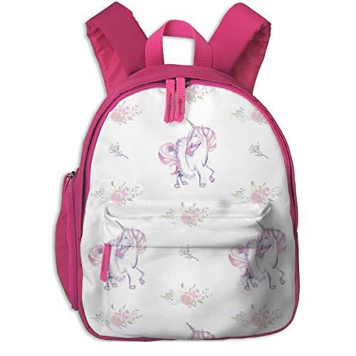 Mochila Infantil niña,Unicorn Ballerina-_4611 - aenne, para escuelas de niños Oxford Cloth (Rosa)