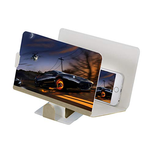 Colorful 3D Handy Lupe/Vergrößerungs Lupe/Klappbare Smartphone Lupe/Bildvergrößerung Lupe/Bildschirm-Lupe für Smartphone/Handylupe Display-Größe 8'' (Gold)