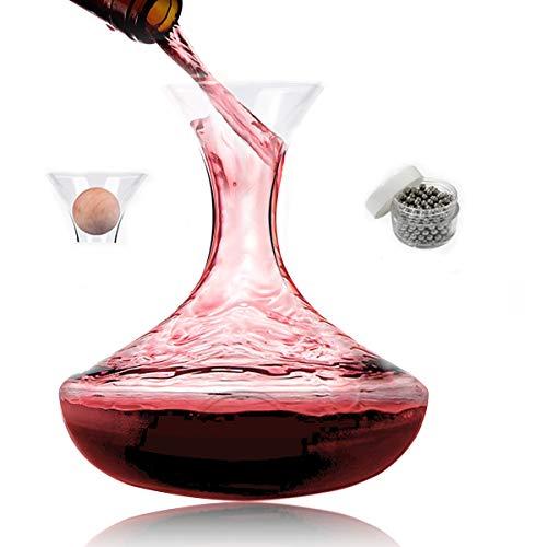 Mobofix Decantador Vino - Corcho - Bolas de Limpieza - Calidad Regalo para Senior Padres Mujeres Hombres Wino