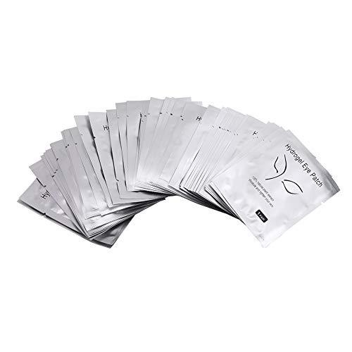50 paires de coussinets de gel pour les extensions de cils patchs pour les yeux pour la greffe de cils masque de collagène pour les yeux extension de cils hydrogel(Silver Beauty Face)