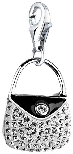 Nenalina Charm Handtasche Anhänger in 925 Sterling Silber für alle gängigen Charmträger 716197-001