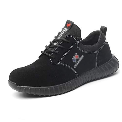 ZYFXZ Zapatos de Seguridad Zapatos de Seguridad for Hombres, Zapatos Casuales Transpirables...