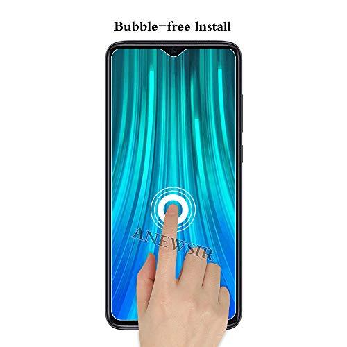ANEWSIR 3 Stück Schutzfolie Kompatibel mit Xiaomi Redmi Note 8 Pro Displayschutzfolie, HD Displayschutzfolie, Ohne Luftblasen, Anti-Kratzer, Displayschutzfolie Folie für Redmi Note 8 Pro.