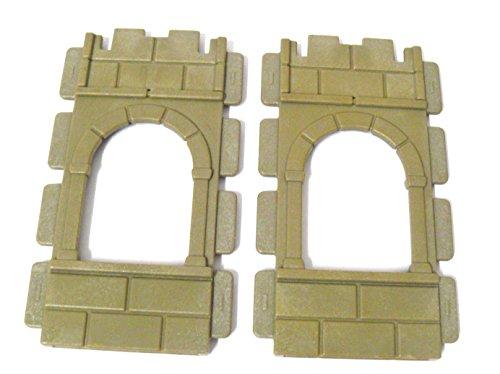 playmobil ® -2 Burg Mauern - Ritterburg - Mauerteil Ersatzteil - flach mit Fenster - für - 3030, 3666, 3888,3450 oder 3716