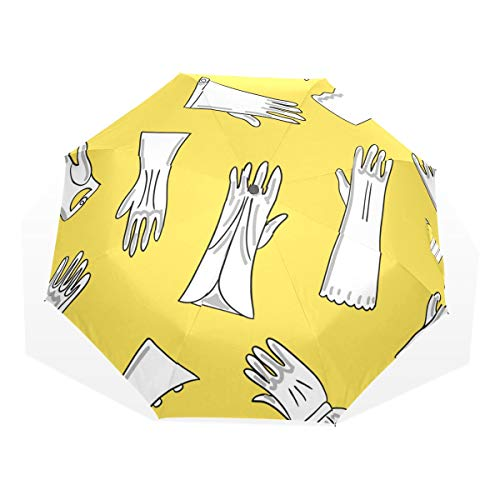 Kids Umbrella Travel Colorful Creative Leather Boxing Gloves 3 Fold Art Umbrellas(outside Printing) Rain Umbrella Kids Best Rain Umbrella Colorful Umbrellas Compact