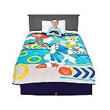 Franco Kids Bedding Super Soft Plush Micro Raschel Blanket, 62 in x 90 in, Sonic The Hedgehog