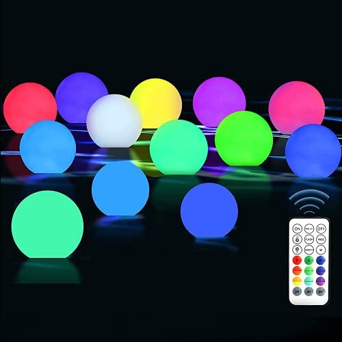 KNMY LED Spa Licht, Schwimmendes Poollicht, Wasserdichtes Whirlpool Licht, Fernbedienung RGB Farbwechsel Badewanne Licht Nacht, Leuchtendes Licht Ball für Baby Geschenke, Spa, Garten, Wohnkultur