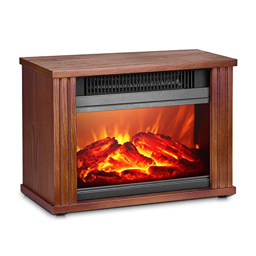 Electric Fireplace Heater, Fireplace Space Heater with 3D Flames Effect, IndoorFireplace HeaterStove with 3s Instant Heat, 300Sq Ft Heat Area, Overheat Protection, Energy Saving, 1200W