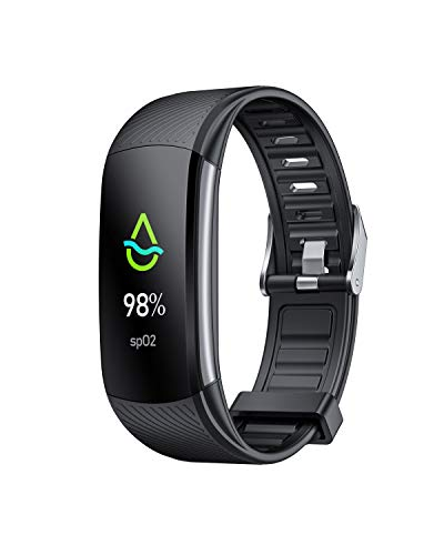 AFAC Fitness Trackers with Oxygen Saturation Monitor, Smart Watch for Men and Women, Test for Body Temperature, Heart Rate and Blood Pressure, Pedometer, Step Calorie Counter, Sleep Monitor