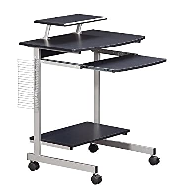 Techni Mobili Mobile & Compact Complete Computer Workstation Desk. Color Graphite