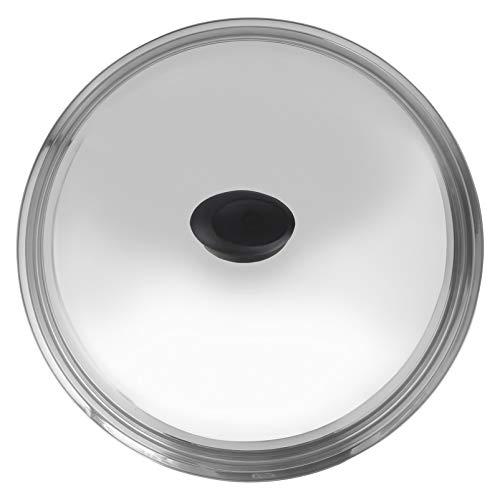 Hemoton - Coperchio universale in acciaio INOX, 38 cm, coperchio per padelle e pentole
