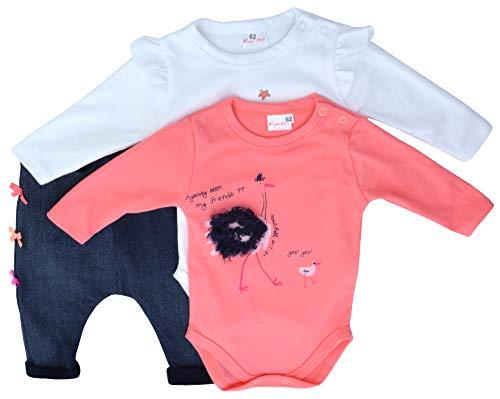 Karen Bebé Unisex Ropa para Niños Niñas 2 Body Pantalones de Chándal Patrones de Colores (Avestruz, 68)