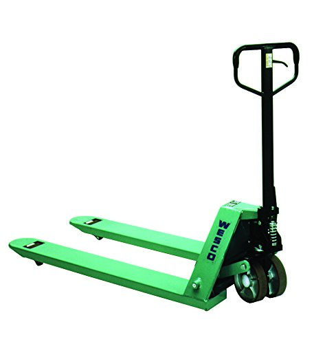 Wesco Industrial Products 278148 CPII Lowboy Pallet Truck with Handle, Moldon Polyurethane Wheels, 4400 lb. Load Capacity, 51