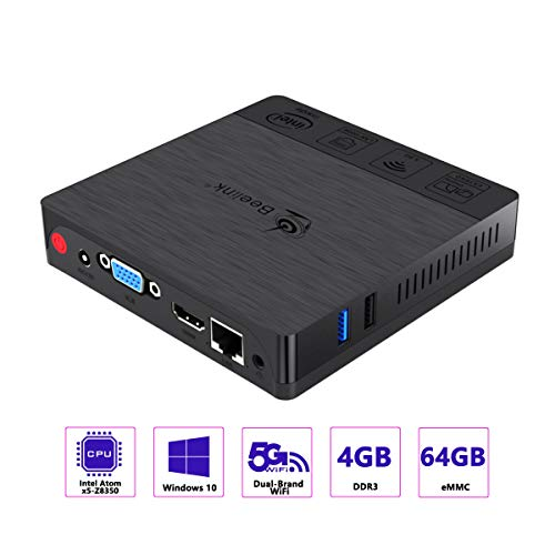 Mini PC Beelink J34 Windows 10, Intel Apollo Lake Celeron Processor J3455,DDR3L 8G/ M.2 2280 SSD 128G,Supports Extended RAM & SSD/Intel HD Graphics 500/Dual HDMI/Dual WiFi /BT4.0