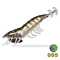 釣りルアーエギングイカジグエギベイト釣りタコ木製エビ頭足類ウッドシュリンプタコルアー YFYUER (Color : 005, Size : 115mm 20g sinking)