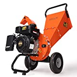 EFCUT C30 Mini Wood Chipper Shredder Mulcher, 7 HP 212cc RATO Gasoline Engine, 3' Max Wood Diameter, 15:1 Waste Reduction Ratio, 2-Year Warranty After Product Registration, EPA/CARB Certified