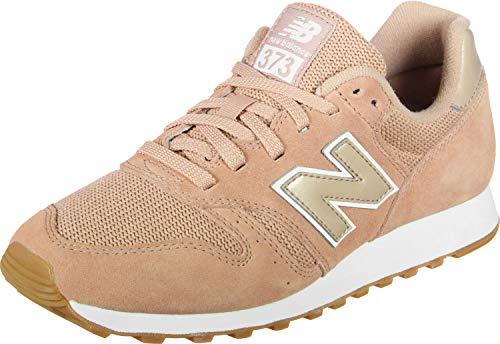 New Balance Damen 373 Sneaker, Pink (Pink Sand/White Psw), 40.5 EU