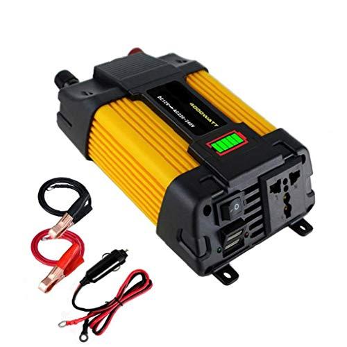 DC 12V 500W de potencia del inversor de coches para 220V AC convertidor con doble USB Pantalla LED del adaptador del cargador del coche