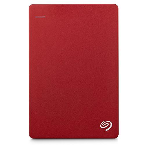"『Seagate Backup Plus Portable 1TB HDD 【2018モデル】バックアップソフト付 2.5"" 外付 電源不要 Mac PS4対応 3年保証 赤 STDR1000303』のトップ画像"