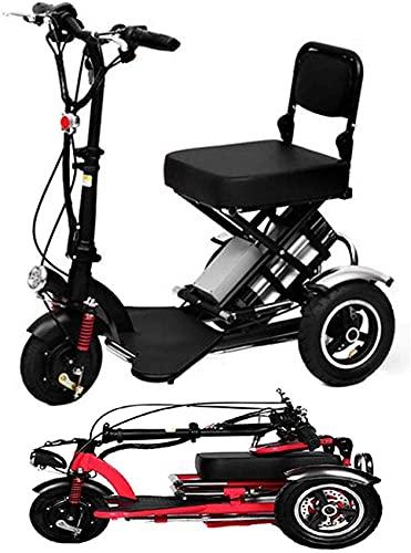 LJYY Mini triciclo eléctrico plegable Scooter eléctrico adulto litio portátil para discapacitados...
