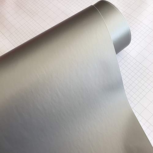 JiuRui DIY Verpackung Self Adhesive Matte Vinylfilm-Auto-Verpackungs-Matt-Armee-Grün-Roller-Motorrad-Abziehbild-Aufkleber ORINO Matte Car Wrapping Folie (Color Name : Silver, Größe : 40cm x 152cm)
