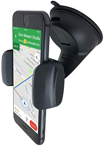 Premium KFZ PKW Auto Halterung für Smartphone Handy an Windschutzscheibe - Universal mit Kugelgelenk 360°drehbar Autohalterung Handyhalterung Armaturenbrett Saugnapf Handy-Halter - Car Holder Mount