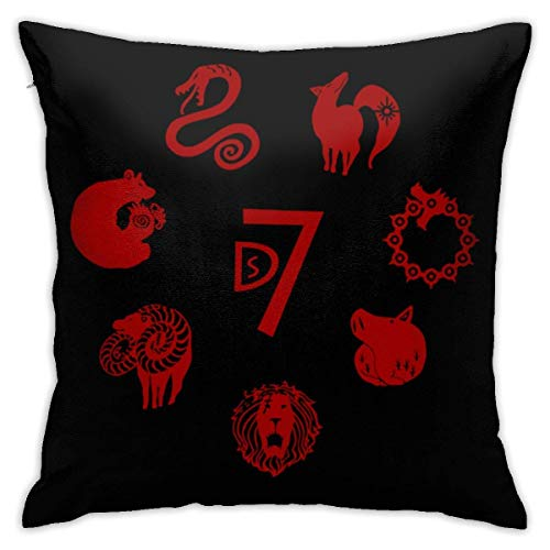 AOOEDM The Seven Deadly Sins Throw Pillowcase Pillow Cover 18x18 Inches