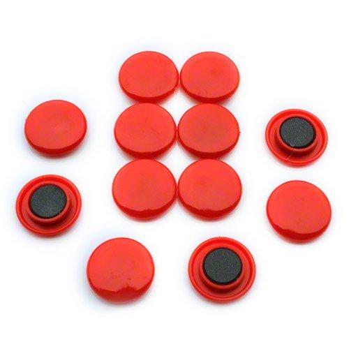 Magnet Expert Ltd - Confezione da 12 magneti per frigorifero e ufficio, colore: Rosso