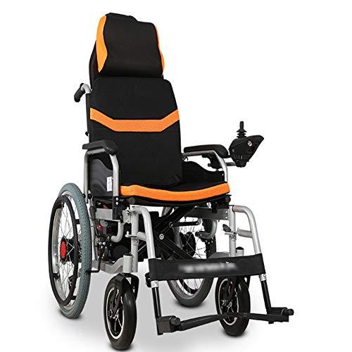 LAYG Elektrorollstuhl Faltbar Leicht,Elektro Mobilitätshilfe Elektrischer Rollstuhl,Medizinischer Tragbare Ältere Behinderte Hilfe Auto mit großen Rädern,Mobilitätsroller für Behinderte, Roller / 12