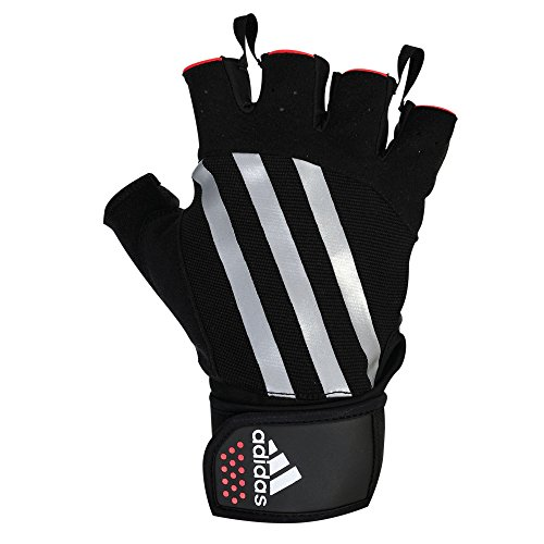 Adidas Trainings-Handschuhe Small, Schwarz (blk/wh/red)