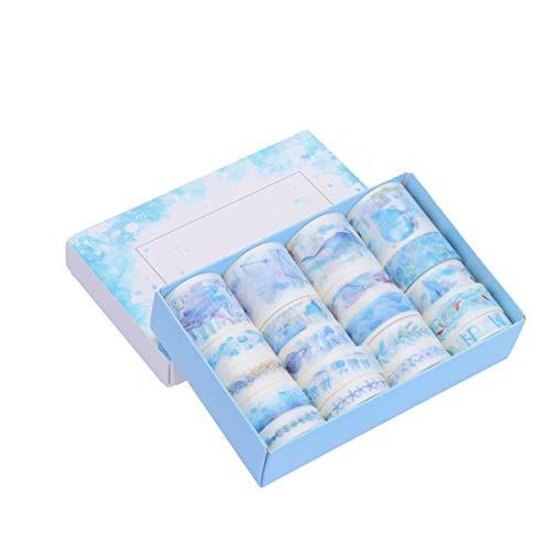 NUOLUX マスキングテープ 20巻セット 和紙テープ DIY 手帳テープ かわいい 工芸品 ギフト 装飾用テープ 剥がしやすい
