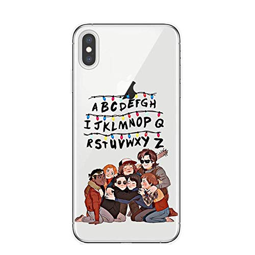 RENGMIAN TV Series Stranger Things Poster Soft Silicone Transparent TPU iPhone Case ST-677 For Funda iPhone XS MAX