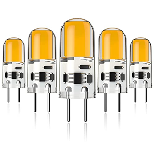 Ymm G6.35 GY6.35 Alto Brillo Bombilla LED 4W Equivalente a Lámpara Halógena de 40W,AC 12V,Blanco Cálida 3000K (5 unidades) [Clase de eficiencia energética A+]