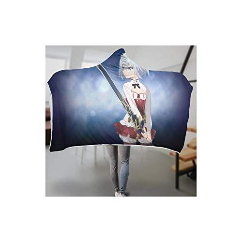 DOUBLE Manta portátil Assas-sin's Pride con capucha para adultos, niños y adolescentes